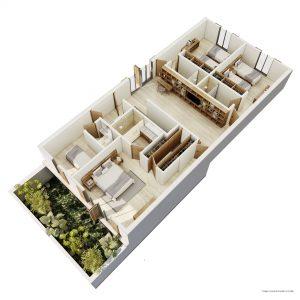 TOWNHOUSE GARDEN / PATIO (C.S) PLANTA ALTA