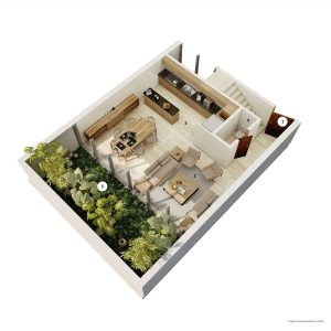 TOWNHOUSE GARDEN / PATIO (C.S) PLANTA BAJA