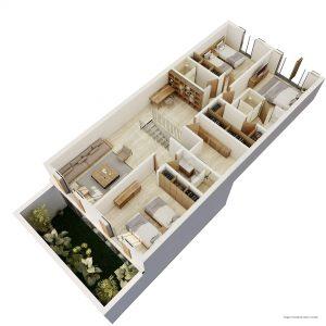 TOWNHOUSE GARDEN / PATIO PLANTA ALTA